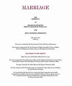 sle wedding program template 11 documents in pdf