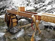 Miniwasserkraft Wasserrad 05 Water Wheel Generator