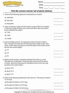 customary measurement length worksheets 1514 converting between customary units of length worksheet turtle diary