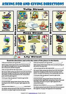 giving directions worksheets islcollective 11706 asking for and giving directions telling the way worksheet by إدواردو بينيلا issuu