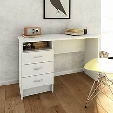 white home office furniture uk function plus desk 3 drawers in white home supplier