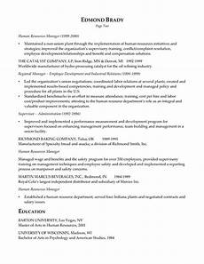 hr executive resume exle