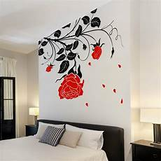 Oversized Wall Stickers large flower roses vines vinyl wall stickers wall