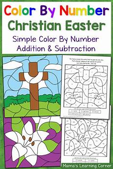 color by number worksheets easter 16129 list of easter printables for preschool to 2nd grade mamas learning corner