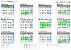 Sachsen Sommerferien 2019 - kalender 2019 ferien sachsen feiertage