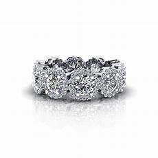 diamond cluster eternity wedding ring jewelry designs