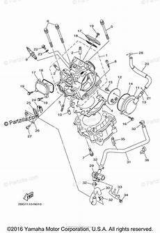 yamaha atv 2014 oem parts diagram for cylinder head partzilla com