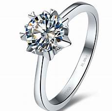 solid 18k gold luxury jewelry 1 carat moissanite ring for wedding engagement anniversary