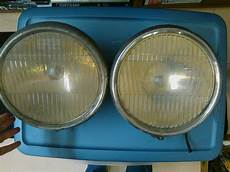 1920 s 1930 s headlight assembly pair with flat glass lens
