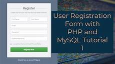 user registration form with php and mysql tutorial 1 creating a registration form youtube