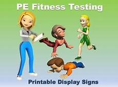 worksheets for elementary 18553 pe fitness testing printable display signs physical education physical education lessons