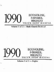 car repair manual download 1990 ford f series engine control 1990 ford truck bronco f series econoline shop manual volumes a b