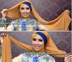 Jilbab Kebaya Wisuda Dua Warna Silang Tumpuk Dengan Kreasi