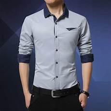 jual kemeja pria formal kerja kantoran lengan panjang slim fit baju kemeja cowok terbaru