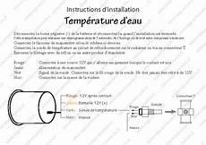 branchement manometre temperature eau manom 232 tre 174 temp 233 rature d eau num 233 rique 3 couleurs