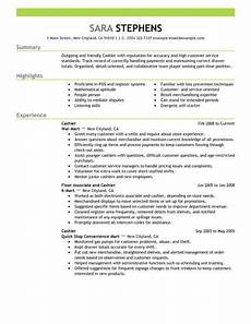 best part time cashiers resume exle from professional
