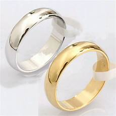 new 1pc plain silver gold stainless steel engagement