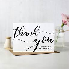 Ideas For Wedding Thank You Cards
