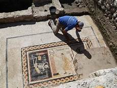 archaeologists in turkey discover ancient mosaic with