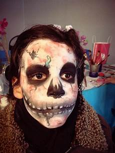 maquillage enfant squelette alsace