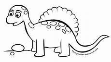 Gambar Mewarnai Dinosaurus Lucu Contoh Gambar Mewarnai