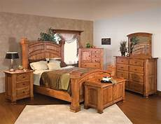 luxury amish rustic cherry bedroom solid full queen king bed cabin ebay