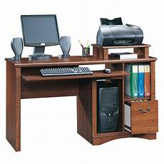 sauder camden county traditional planked cherry computer desk at lowes com