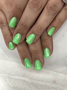 neon green gel nails light elegance lime of the party