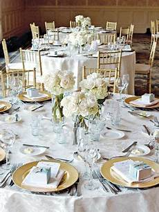 how to decorate banquet square and round reception tables