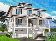 house plans with cupola upside down beach house with third floor cupola 15222nc