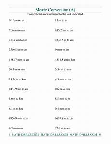 measurement worksheets cm mm m 1392 metric conversion of mm cm m and km a