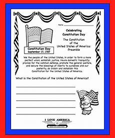 u s constitution day sept 17 free writing coloring worksheet secondgradesquad com