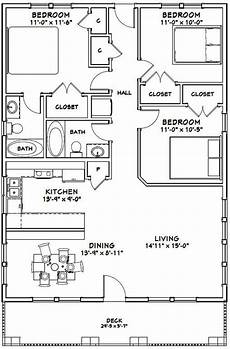30x40 house plans 30x40 house 3 bedroom 2 bath 1200 sq ft pdf floor etsy
