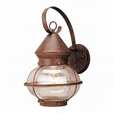 shop portfolio 14 3 4 in rustic bronze outdoor wall light at lowes com