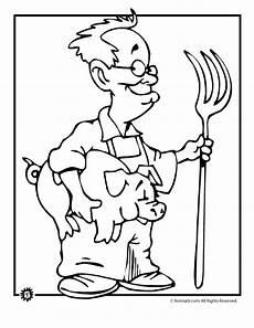 pig farmer coloring page woo jr activities