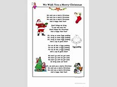 Words To We Wish You A Merry Christmas-We Wish You A Merry Christmas Piano