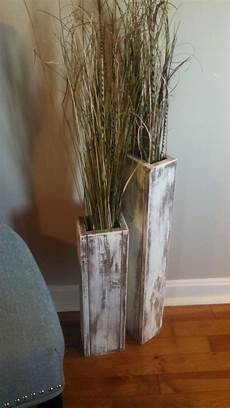 Home Decor Ideas With Vases by Set 24 Quot And 18 Quot Rustic Floor Vases Wooden Vases Home