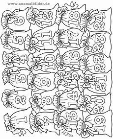 ausmalbilder adventskalender calendar june
