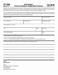 form it 106 it 106 technical inability to comply waiver request