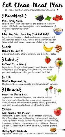 meal planning eat clean clean meal plan clean eating