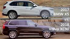 2017 bmw x5 vs 2018 volvo xc90 technical comparison