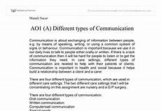 different types of communication a level healthcare