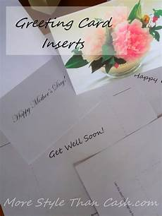 greeting card inserts