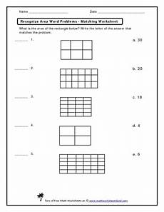 area word problems worksheets with answers 11173 recognize area word problems matching worksheet