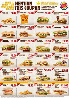 Burger King Coupons July 2016