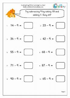 subtraction worksheets year 9 10347 subtracting 9 from a 2 digit number subtraction maths worksheets for year 2 age 6 7
