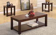 Cherry Brown Coffee Table cherry brown matte finish modern 3pc coffee table set