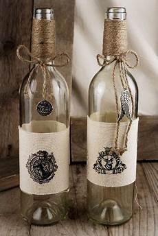 ideas for wine bottle decor diy initials