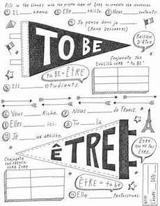 worksheets for verb etre 19140 verb 234 tre instant pdf poster worksheet no prep verbs clase de espa 241 ol y