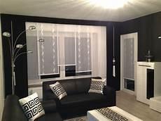 wohnzimmer gardinen modern designer gardine esszimmer ma 223 gefertigt modern schwarz